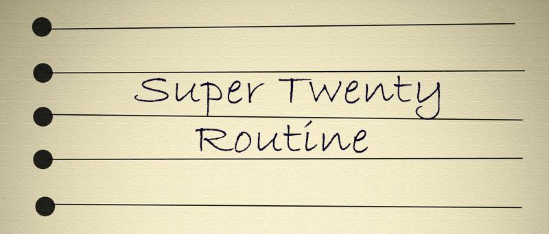 Training routines: Super Twenty
