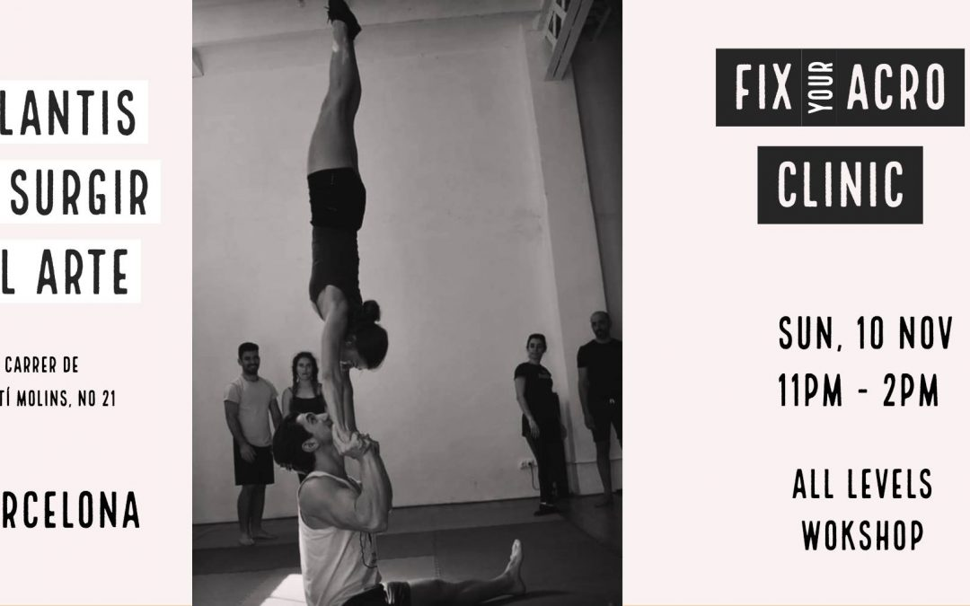 Fix your Acro Clinic with Elisa and Tudor – Barcelona